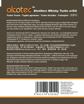 Дрожжи Alcotec «Turbo yeast Whisky» 73 gr